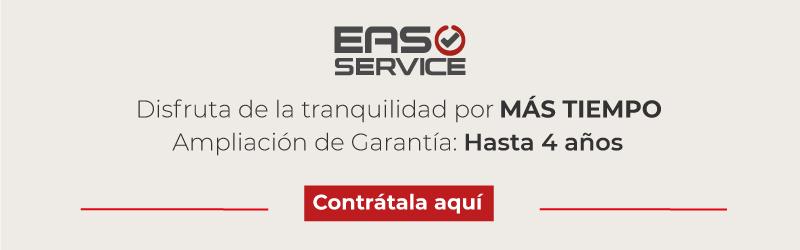Contrata la ampliación de garantía Eas Service y disfruta de la tranquilidad, durante más tiempo.